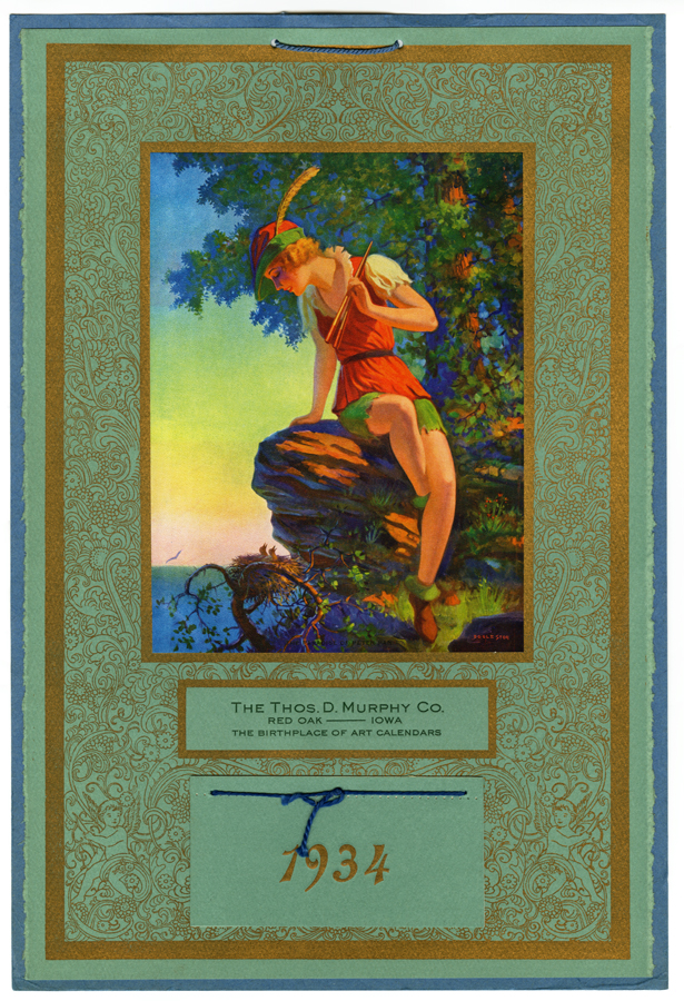 Calendar Art Peter Rolfe : Vintage pin up calendar eggleston paradise of peter